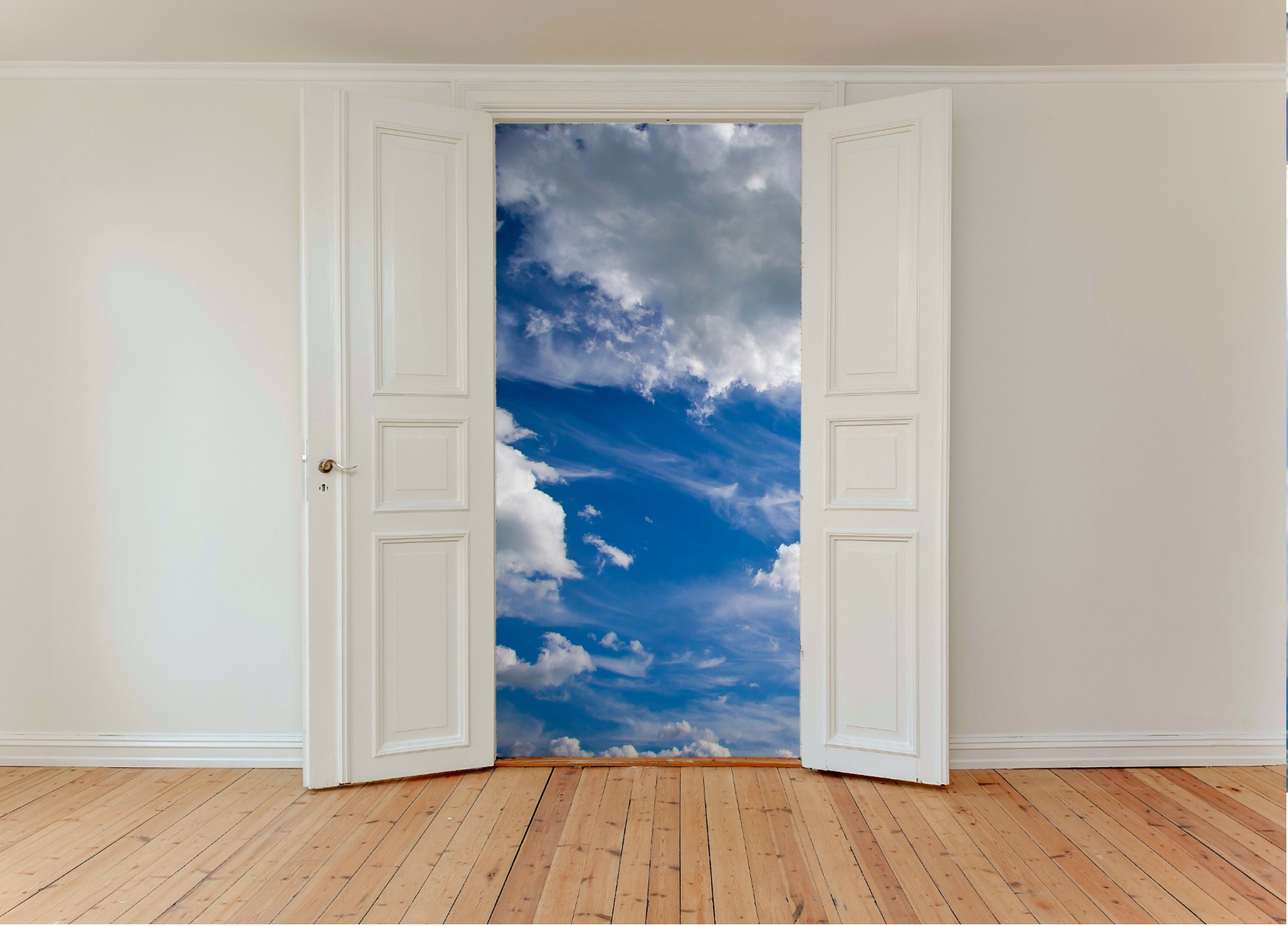 porte ouverte ciel